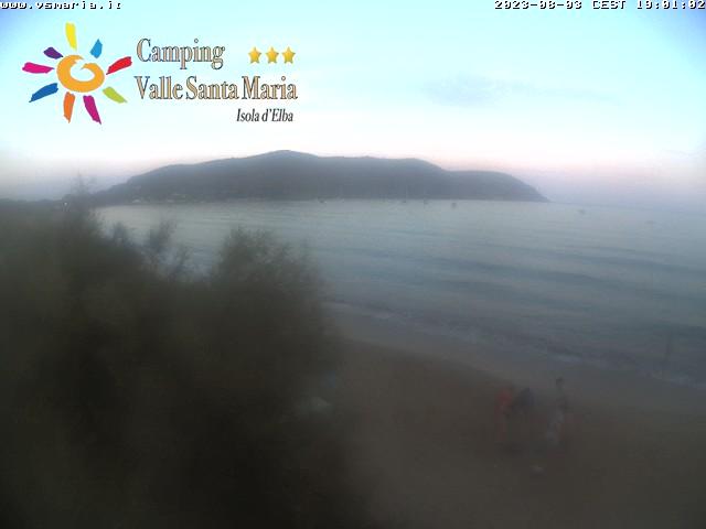 Webcam spiaggia di lacona isola d'Elba